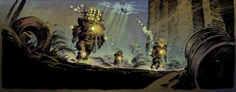 Les trois fantomes de Tesla - Marazano - Guilhem Bec - scaphandres