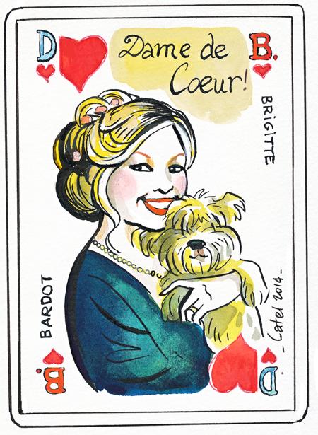 Un hommage à Brigitte Bardot pour ses 80 ans (c) Catel