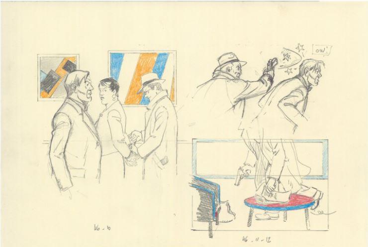 © Sente/Juillard chez Dargaud (Visible dans l'Héritage Jacob, 9ème tome de Autour de Blake et Mortimer)