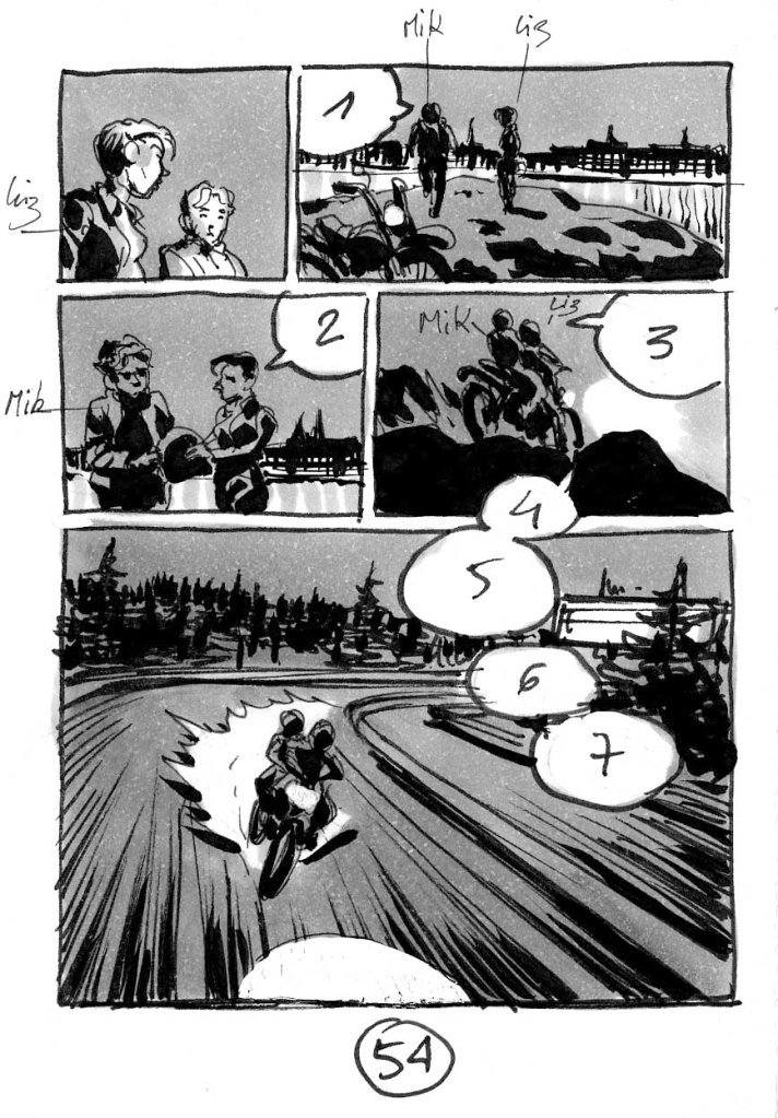 Storyboard de Dominique Bertail