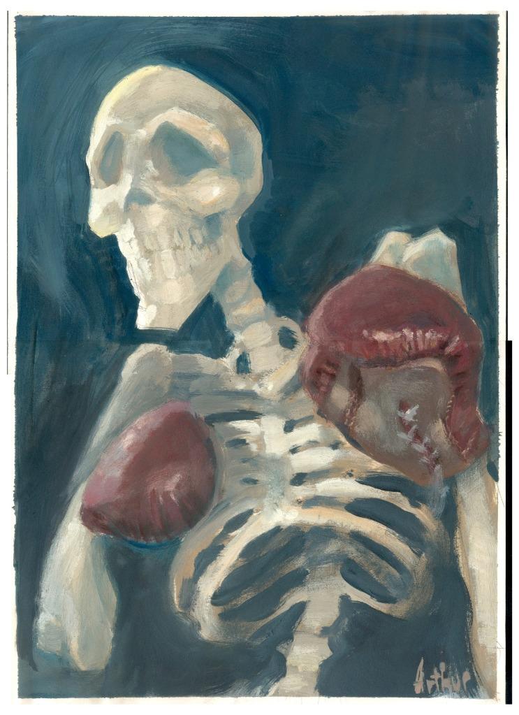 Un squelette à l'acrylique de 1998 © Arthur De Pins
