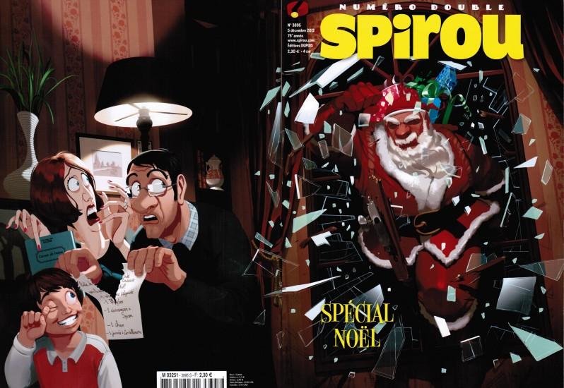 Couverture du Spirou Spécial Noël de 2012 ©Dupuis