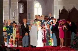 """""""La mariée et le témoin"""" pour une exposition de 2007 chez Arludik © Arthur De Pins"""