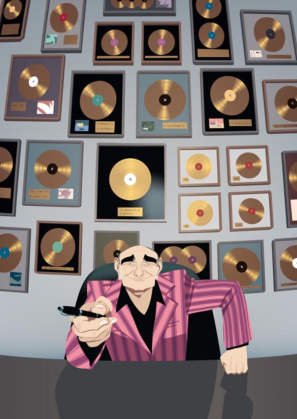 Portrait de Pascal Nègre, à l'époque PDG d'Universal Music France