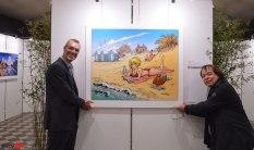 Patrick Lambot et François Walthéry bien accompagnés ©BédéArt