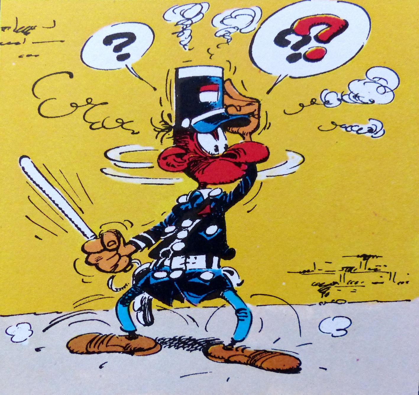 En réponse au membre outragé des forces de l'ordre  - Page 5 Franquin-gaston-lagaffe-longtarin