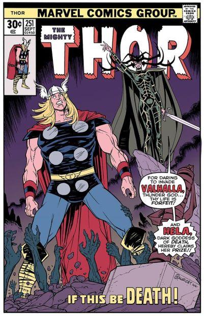 La vision de Mauricet de la couverture de Thor #251