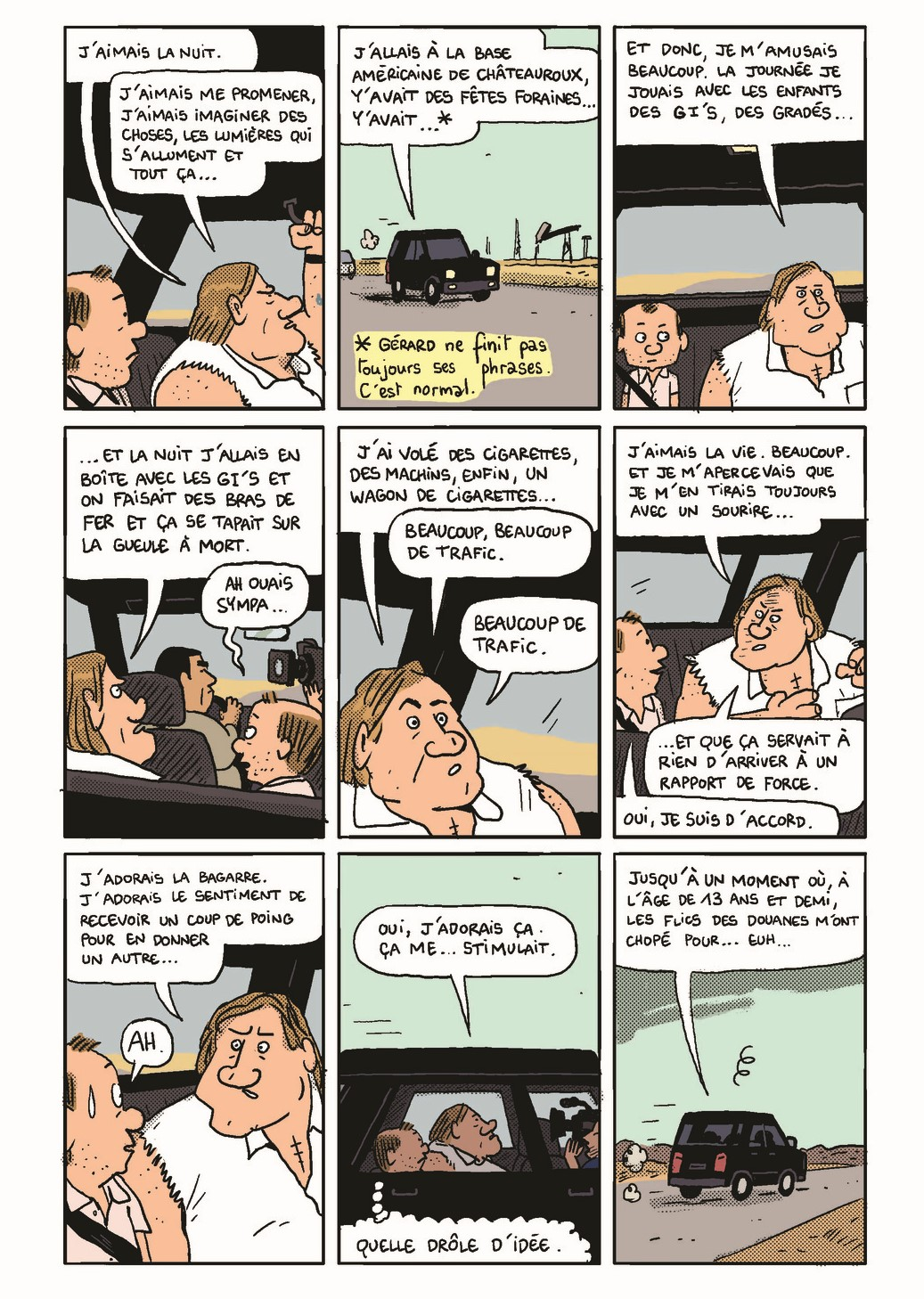 Gérard – Cinq années dans les pattes de Depardieu – Mathieu Sapin – Dargaud  – enfance