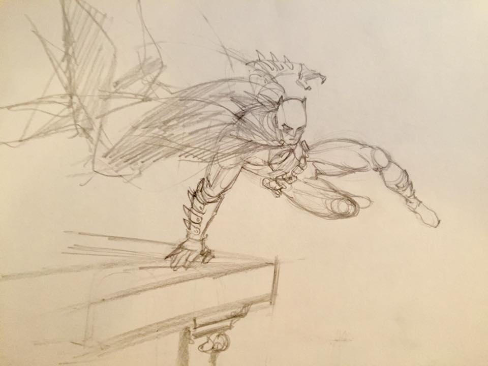 Les comics c'est bath(man) : L'ACTUALITE COMICS - Page 14 Batman-projet-secret-enrico-marini-dargaud-dc-esquisse