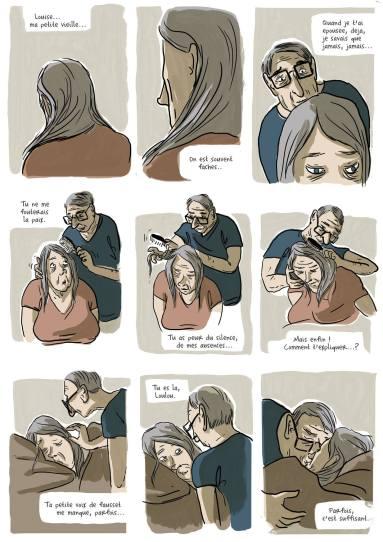 Séance de coiffure, première version © Aude Mermilliod