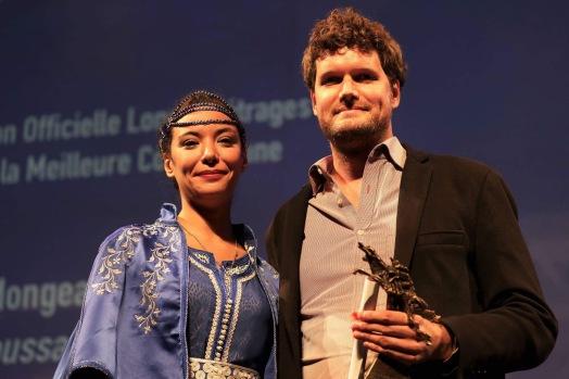 Lubna Abidar avec Martin Laroche