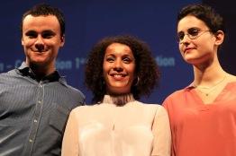 Louis Hans-Moëvi et Siham Hinawi avec Sofia Djama