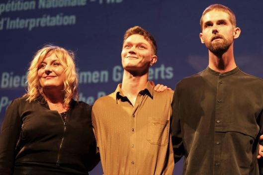 Catherine Salée avec Tijmen Govaerts et Nicolas Graux (Prix d'interprétation)