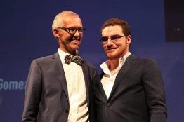 ean-Marc Van Espel avec Pablo Munoz Gomez (Prix du Public Court Métrage)