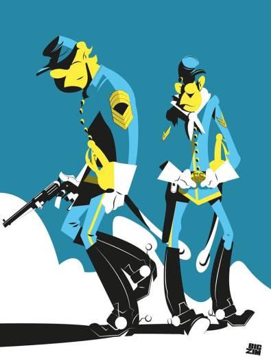 Les tuniques bleues © Laurent Zimny
