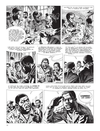 Cinq branches de coton noir - Yves Sente - Steve Cuzor - version noir et blanc - p.8
