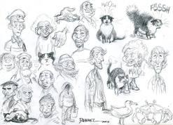 Recherches de personnages © Duhamel