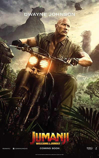 Jumanji - Bienvenue dans la jungle - Dwayne Johnson - affiche
