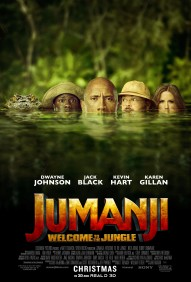 Jumanji - Bienvenue dans la jungle - Dwayne Johnson - Jack Black - Kevin Hart - Karen Gillan - affiche - intrus - crocodile