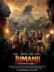 Jumanji - Bienvenue dans la jungle - Dwayne Johnson - Jack Black - Kevin Hart - Karen Gillan - affiche