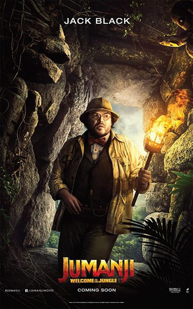 Jumanji - Bienvenue dans la jungle - Jack Black - affiche