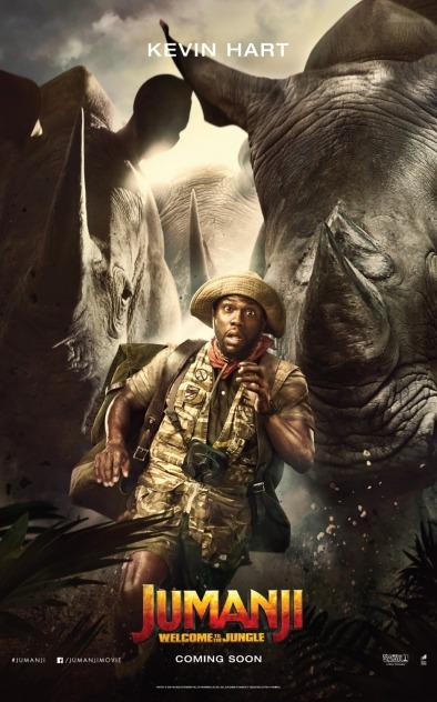 Jumanji - Bienvenue dans la jungle - Kevin Hart - affiche
