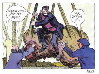 © Blutch chez Casterman (Le Trésor de Rackham le Rouge d'Hergé)