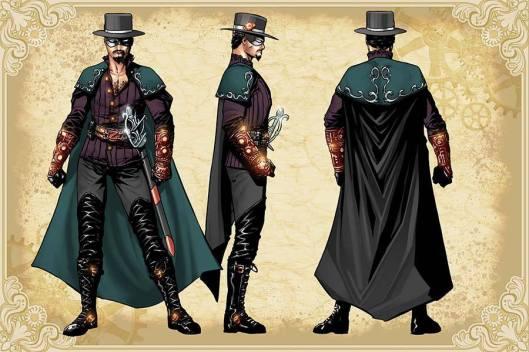 Legenderry - L'aventure Steampunk - crossover - Bill Willingham - Sergio Fernandez Davila - charac design - Don Diego - Zorro