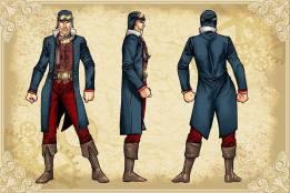Legenderry - L'aventure Steampunk - crossover - Bill Willingham - Sergio Fernandez Davila - charac design - Flash Gordon