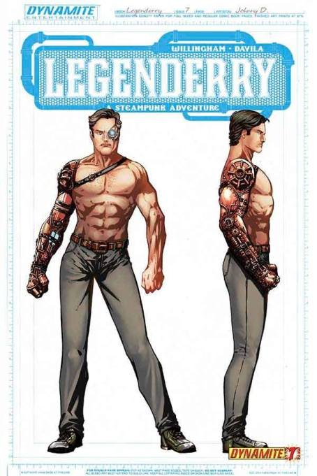 Legenderry - L'aventure Steampunk - crossover - Bill Willingham - Sergio Fernandez Davila - charac design - sosie