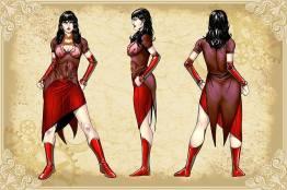 Legenderry - L'aventure Steampunk - crossover - Bill Willingham - Sergio Fernandez Davila - charac design - vampirella