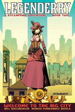 Legenderry - L'aventure Steampunk - crossover - Bill Willingham - Sergio Fernandez Davila - cover vintage
