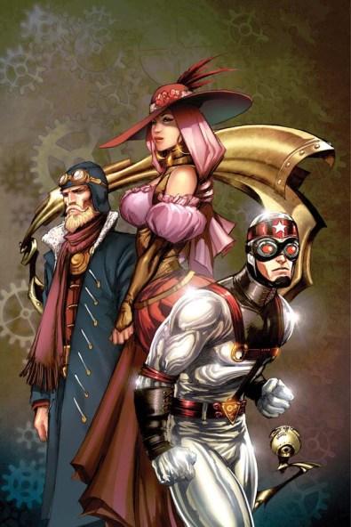 Legenderry - L'aventure Steampunk - crossover - Bill Willingham - Sergio Fernandez Davila - ivan nunes - legenderry - cover 5 - silver star - flash