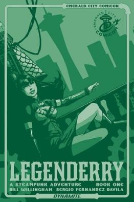 Legenderry - L'aventure Steampunk - crossover - Bill Willingham - Sergio Fernandez Davila - legenderry - cover 1 - émeraude