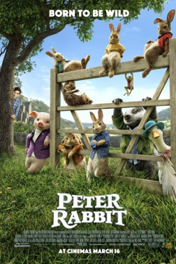 Pierre Lapin - Will Gluck - Adaptation Beatrix Potter - Domnhall Gleeson - affiche