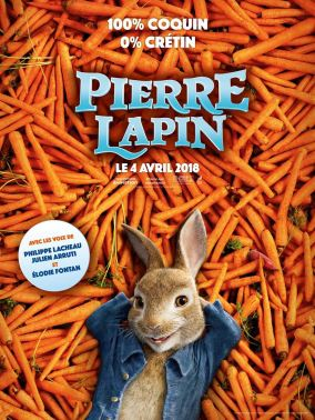 Pierre Lapin - Will Gluck - Adaptation Beatrix Potter - Domnhall Gleeson - anthropomorphes - lapins - affiche carottes