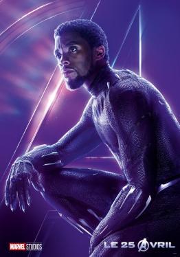 AVENGERS INFINITY WAR - Joe - Anthony RUsso - Marvel Universe - affiche Chadwick Boseman