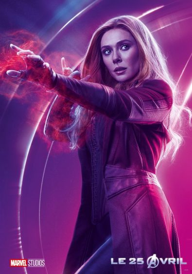 AVENGERS INFINITY WAR - Joe - Anthony RUsso - Marvel Universe - affiche Elizabeth Olsen - Sorciere rouge