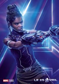AVENGERS INFINITY WAR - Joe - Anthony RUsso - Marvel Universe - affiche letitia wright