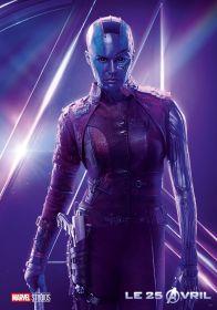 AVENGERS INFINITY WAR - Joe - Anthony RUsso - Marvel Universe - affiche Nebula - Karen Gillan