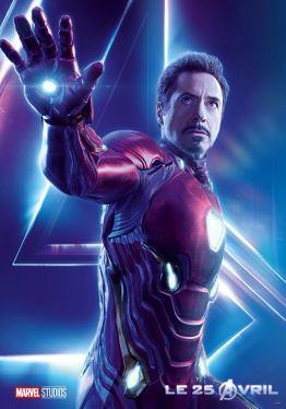 AVENGERS INFINITY WAR - Joe - Anthony RUsso - Marvel Universe - affiche Robert Downey Jr - Iron Man