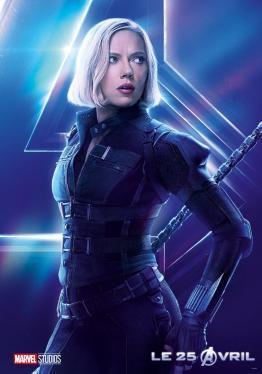 AVENGERS INFINITY WAR - Joe - Anthony RUsso - Marvel Universe - affiche Scarlett Johansson