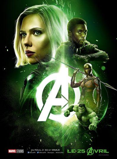 AVENGERS INFINITY WAR - Joe - Anthony RUsso - Marvel Universe - affiche verte - Hulk
