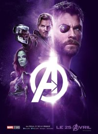AVENGERS INFINITY WAR - Joe - Anthony RUsso - Marvel Universe - affiche violette