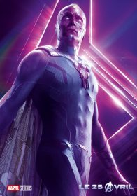AVENGERS INFINITY WAR - Joe - Anthony RUsso - Marvel Universe - affiche Vision - Paul Bettany