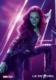 AVENGERS INFINITY WAR - Joe - Anthony RUsso - Marvel Universe - affiche Zoe Saldana