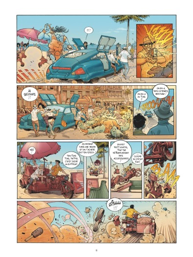 Habana 2150 - tome 1 - Vegas Paraiso - Cailleteau - Heloret - humour - parodie - futur proche - mafieux - p.6