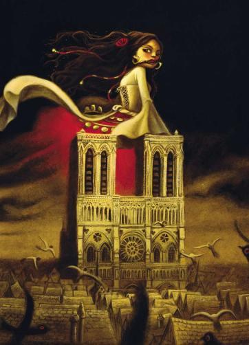 Notre-Dame de Paris (Ed. Soleil), gouache et huile sur papier, 2012