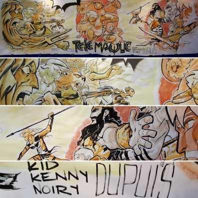 © Toussaint/Ruiz/Noiry, fresque Cultura lors du festival dAngoulême