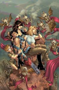 Danger Girl And The Army of Darkness art by Nick Bradshaw